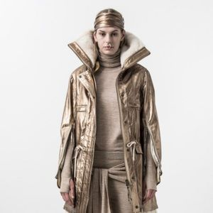 Nicholas K genuine leather and shearling parka